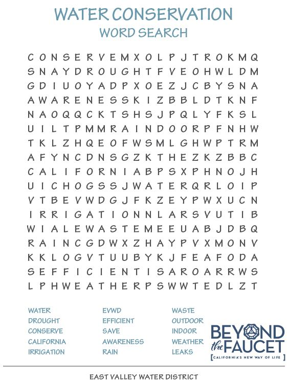 Beyond the Faucet Word Search